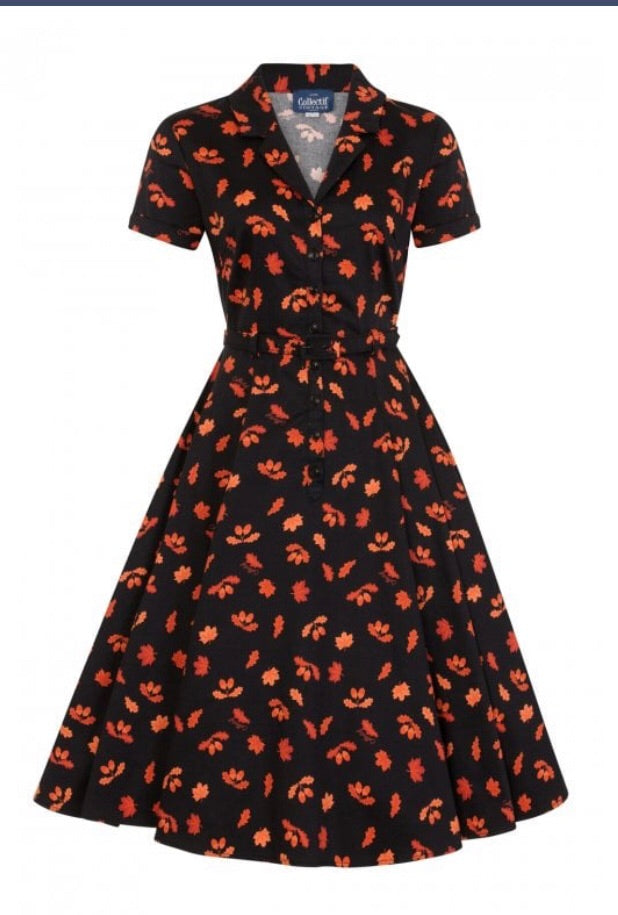 Collectif Vintage Caterina Acorn Swing Dress