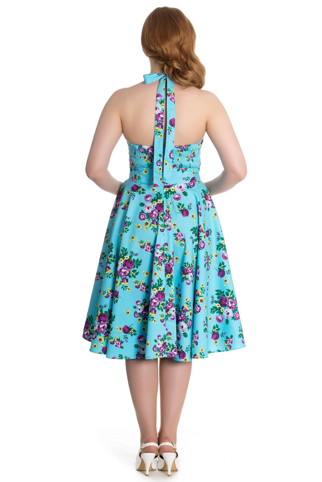 May Day Floral Reproduction 1950s Dress REDUCED