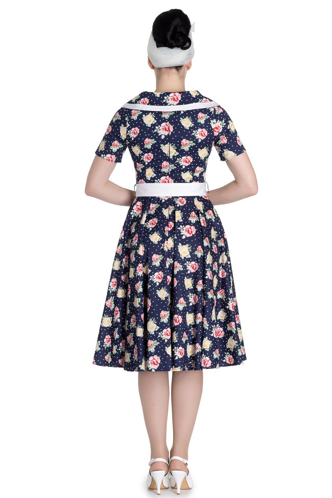 HELL BUNNY EMMA 50S FLORAL DRESS