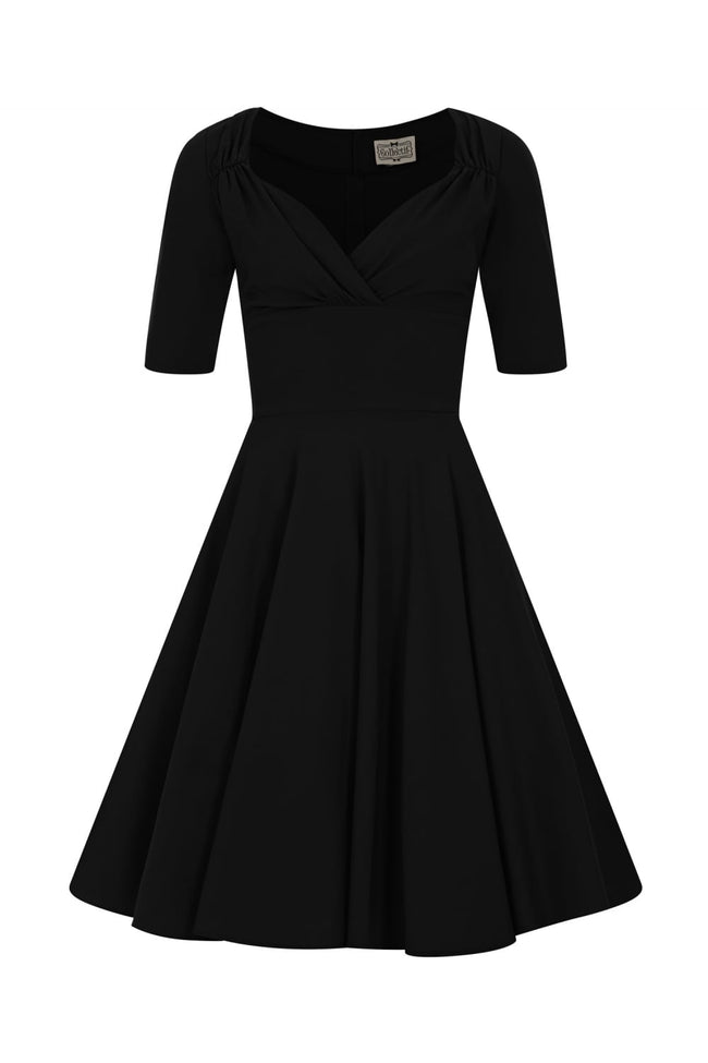 COLLECTIF MAINLINE BLACK TRIXIE DOLL DRESS