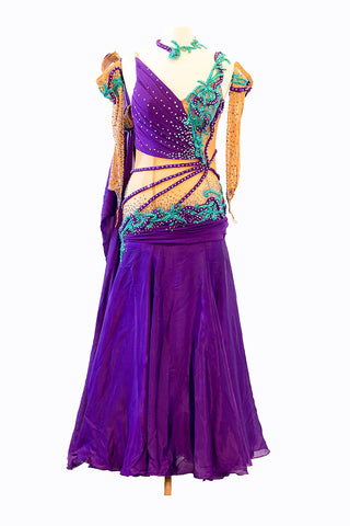 Artistry in Motion Purple & Teal Gown