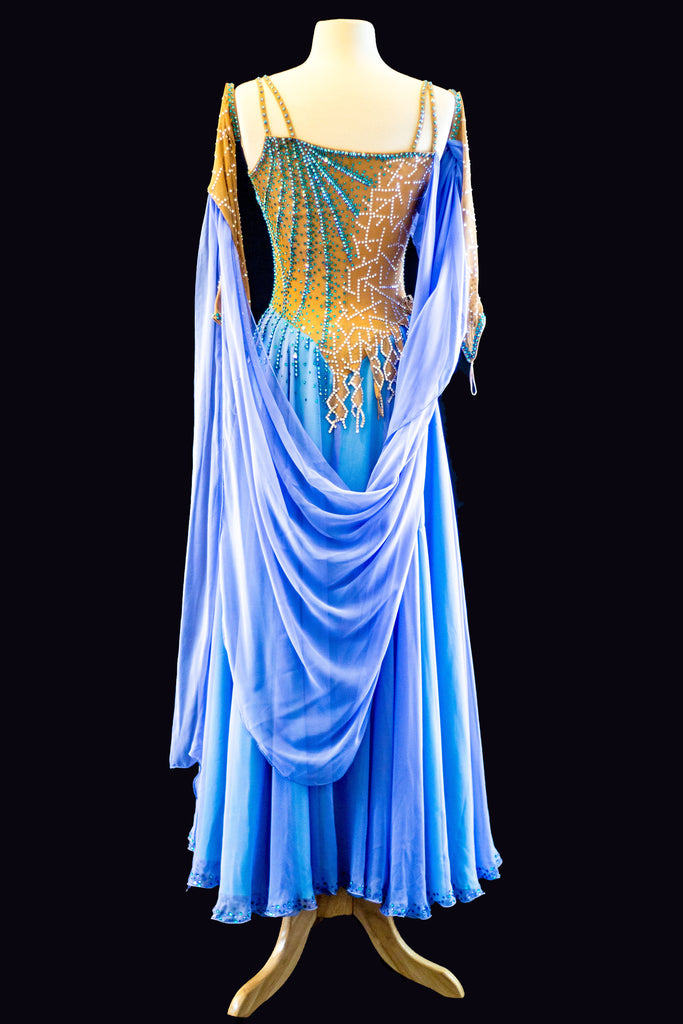Blue and Tan Standard Gown