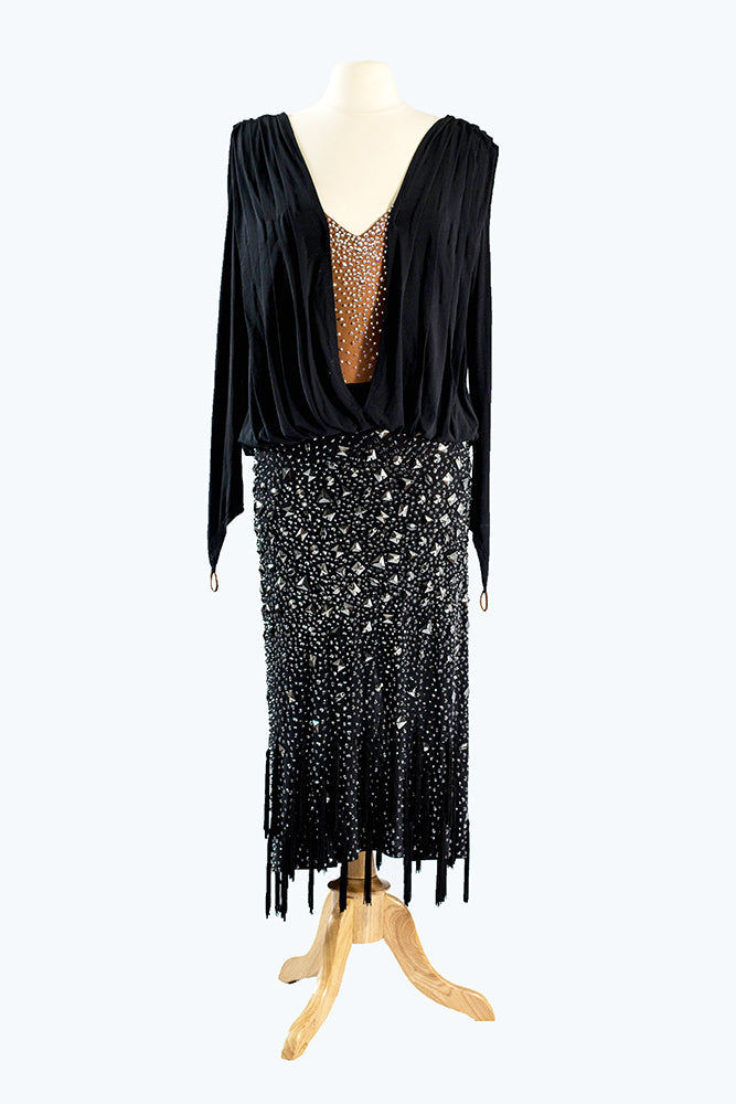 Flashdance Black Latin Gown