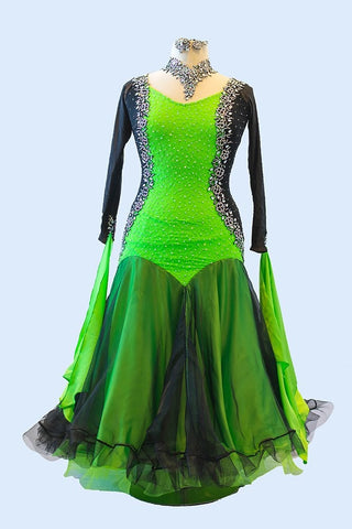 Black and Lime Green Gown