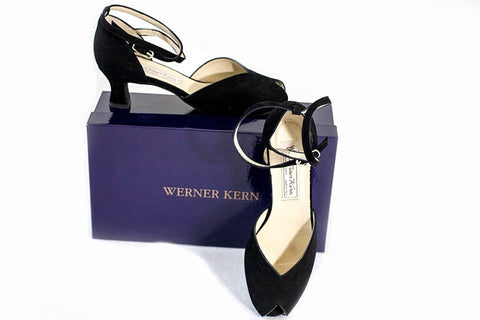 Warner Kern Black Suede Latin shoes - new