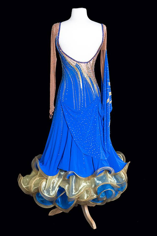 Elle Dance Blue and Gold Standard Gown