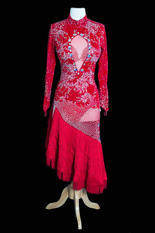 Mimski Red Latin Gown