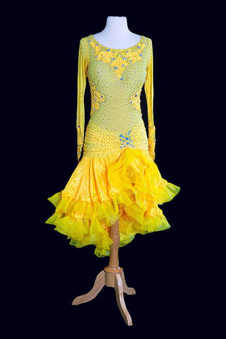 Mimski Yellow Latin Gown