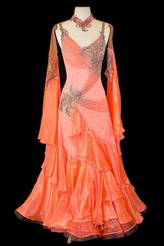 Danscouture Peach Gown