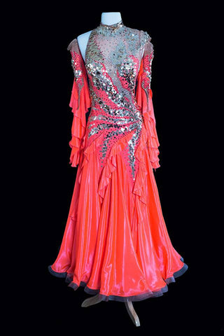 Danscouture Orange Gown
