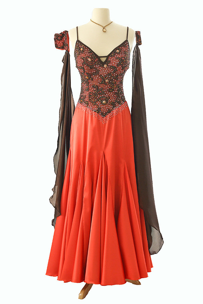 Dore Pumpkin and Brown Gown