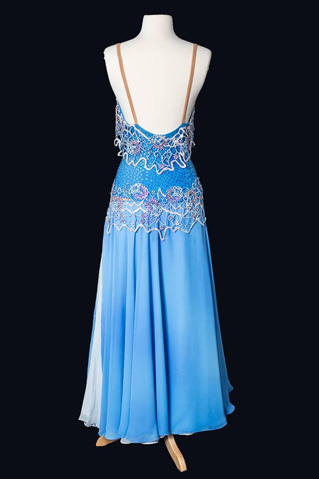 Timeless Blue Smooth Gown