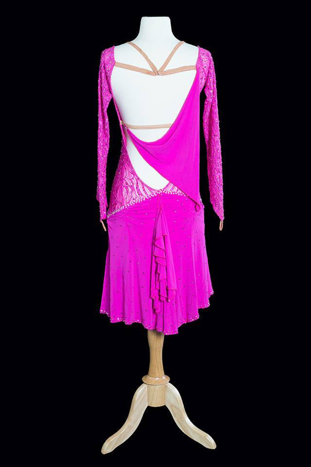 Elle Dance Pink Latin Gown