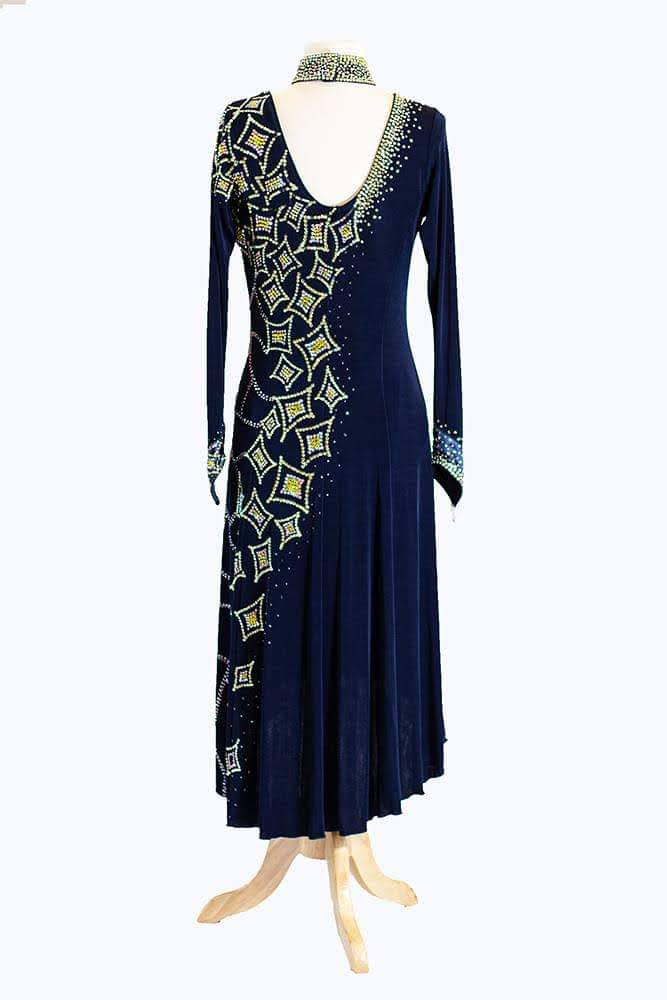 Black Latin Gown with one side embellishment