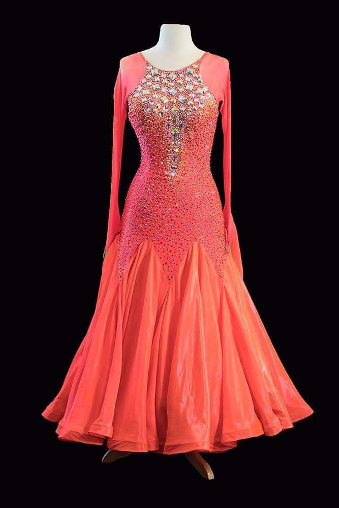 Modelo Couture Orange Standard Gown