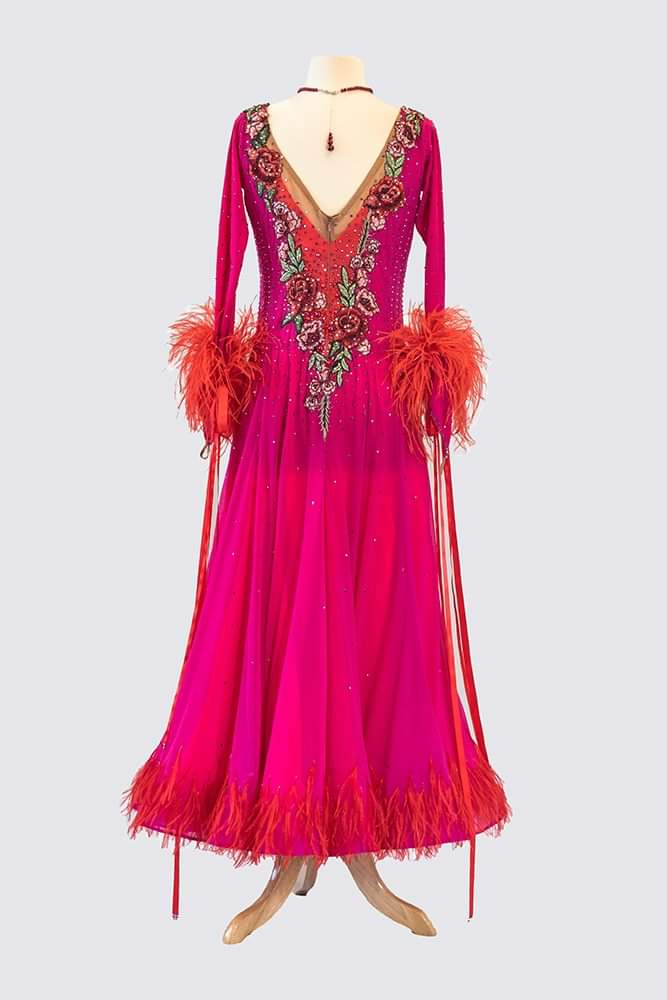 Dazzling Pink and Orange Smooth/Standard Gown
