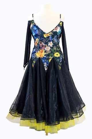 Black with flowers on the bodice (For Sale)