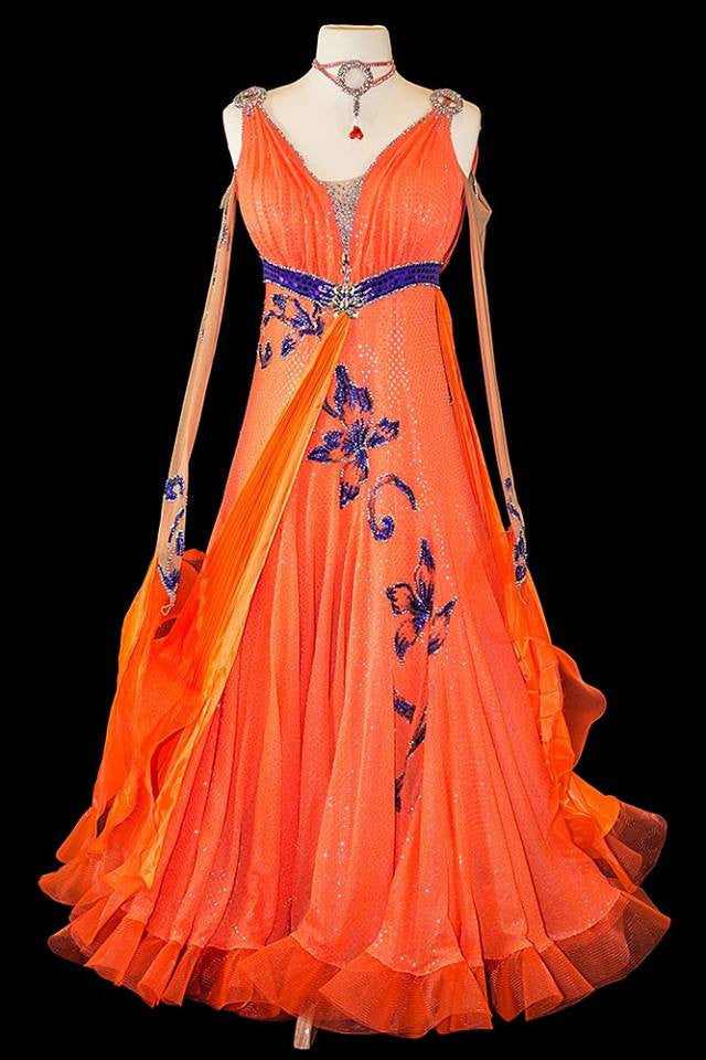 Sapiel Orange Gown