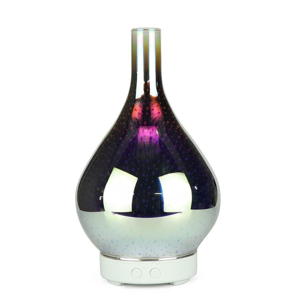 3D Firework Glass Vase Air Humidifier with 7 Color LED Night Light Aroma Essential Oil Diffuser-TrendUp Clothing