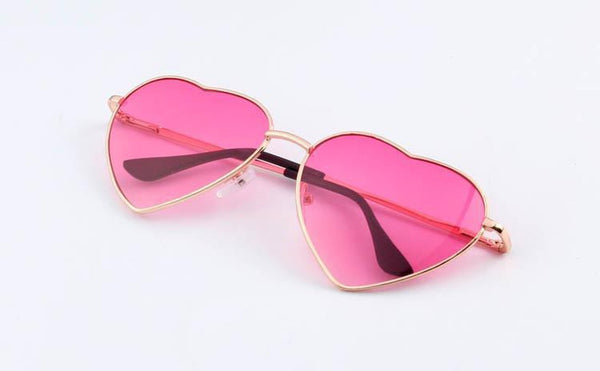 Boutique Heart Shaped Reflective Sunglasses-TrendUp Clothing