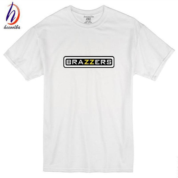 Brazzers Print Humorous T-shirt-TrendUp Clothing