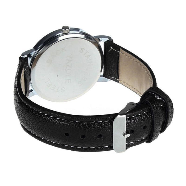 Fashion Faux Leather Mens Wristwatch-TrendUp Clothing