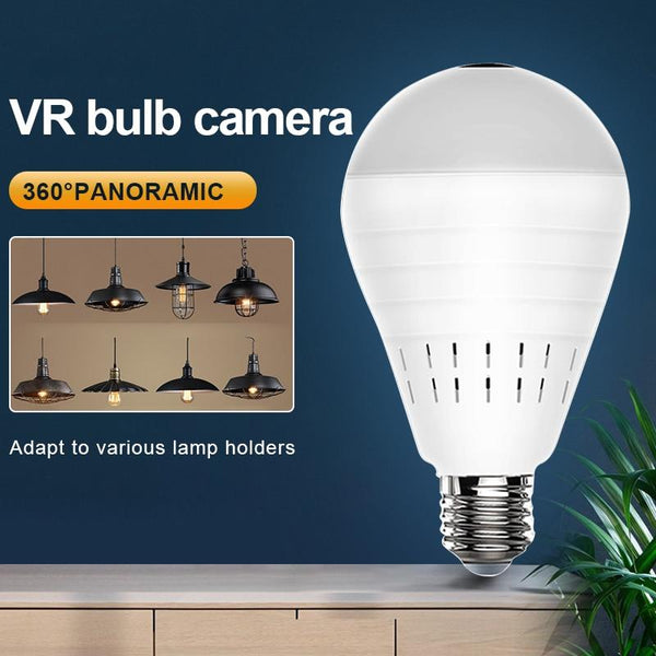 HD Videcam Wifi Panorama Hidden Camera Security Panoramic Bulb - CCTV Video Wireless Surveillance-TrendUp Clothing