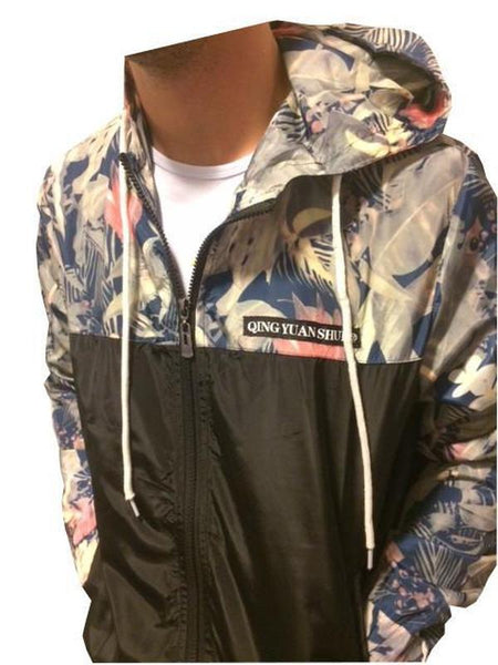 Korean Hawaiian Rain Jacket / Windbreaker Coat by Qing Yuan Shui-TrendUp Clothing