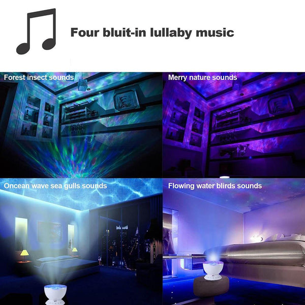 Ocean Wave Projector LED Night Light / Music Player-TrendUp Clothing