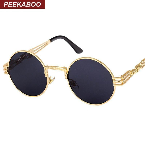 Peekaboo vintage gold and black sunglasses-TrendUp Clothing