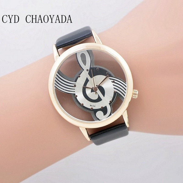 Quartz Analog Hollow Musical Note Watch-TrendUp Clothing