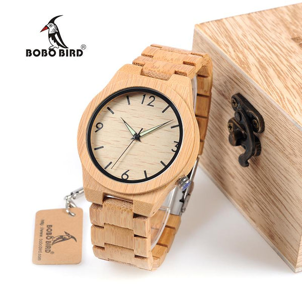 Unique Bamboo Wooden Watch-TrendUp Clothing