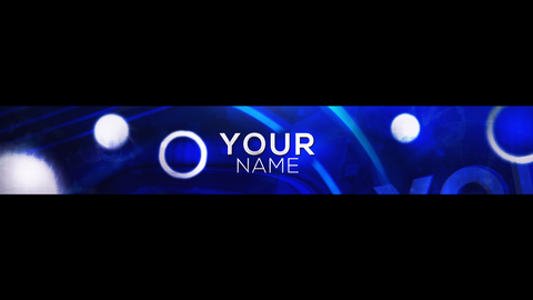 Blue Abstract Youtube Banner
