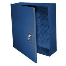 Enclosure: Metal, 16-Inch x 18-Inch x 6-Inch, Blue