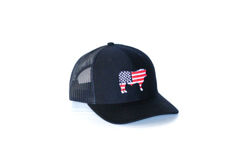 Navy Patriotic Steer Hat