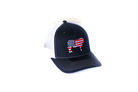 Navy & White Patriotic Hat