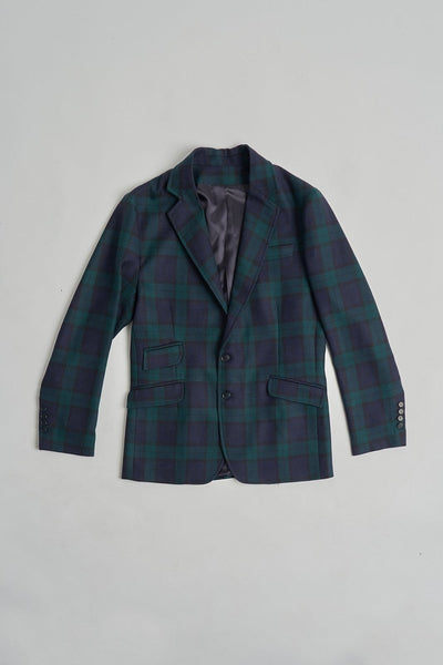 The Wool Blazer Check Azul