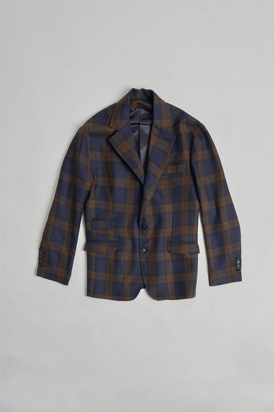 The Wool Blazer Check Marrón