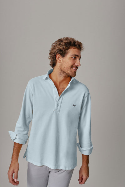 The cotton polera azul Formentor