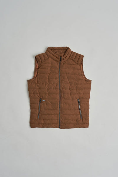 The Padded vest marrón