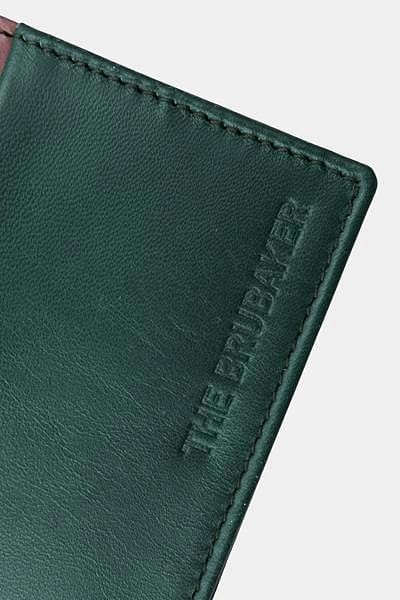 The Leather Wallet Verde