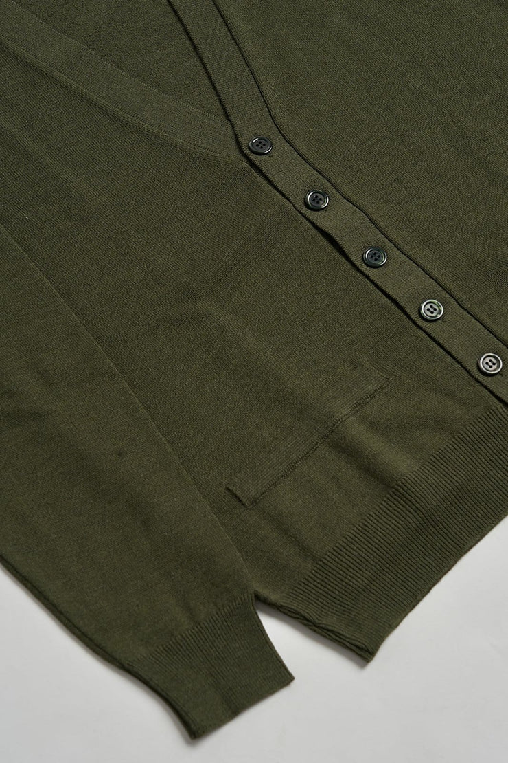 The merino blended cardigan Verde