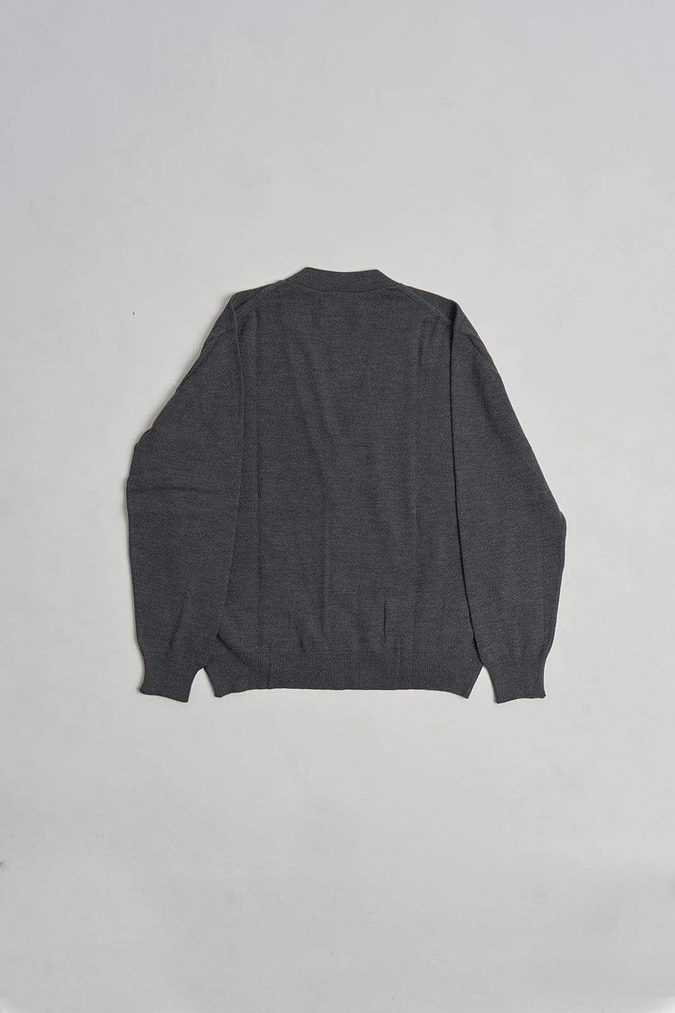 The merino blended cardigan Gris