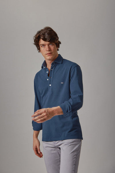 The cotton polera azul Izalco