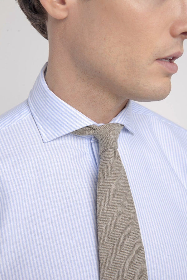 The Merino Necktie Marrón Claro