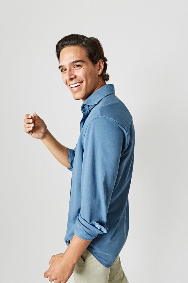 The Cotton Light Camisa Azul Aviador