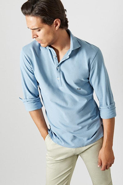 The Cotton Light Polera Azul Bilbao