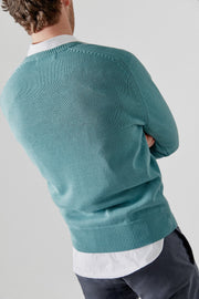 The Cotton Sweater Pico verde Comillas