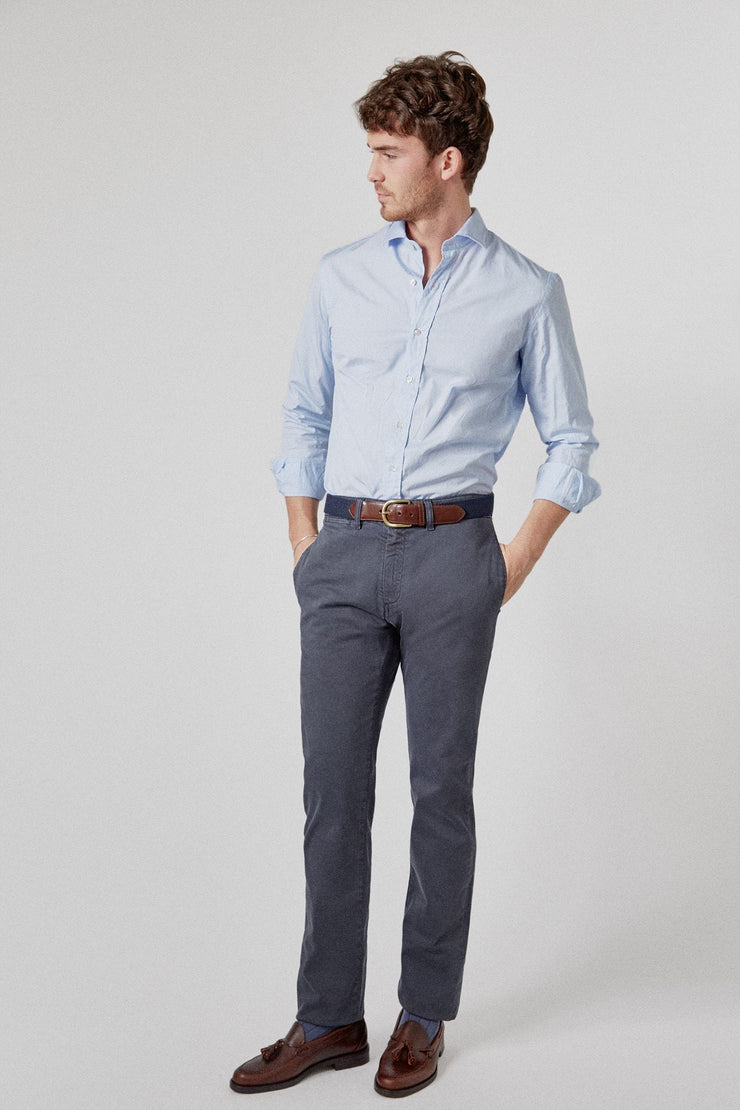 The Popelin Azul Slim Fit