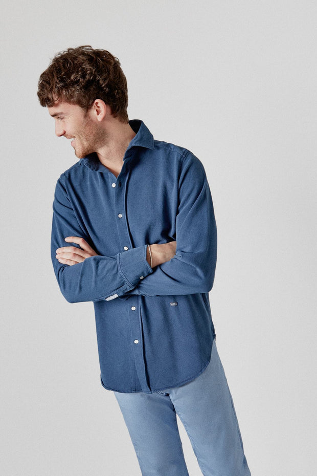 The Cotton Camisa Azul Luarca